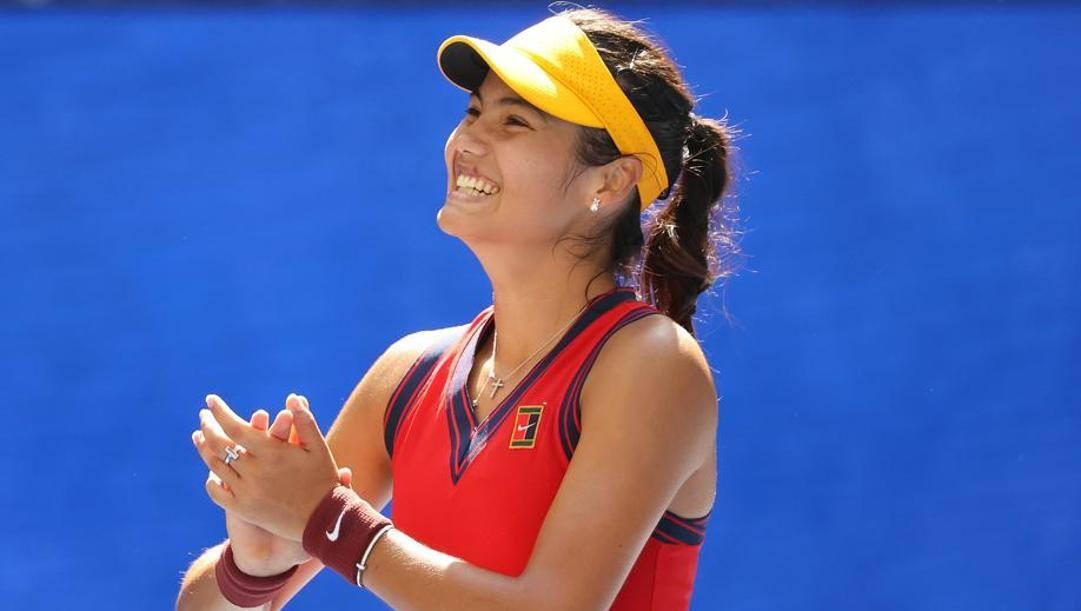 Emma Raducanu, 19 anni, tennista britannica. Afp